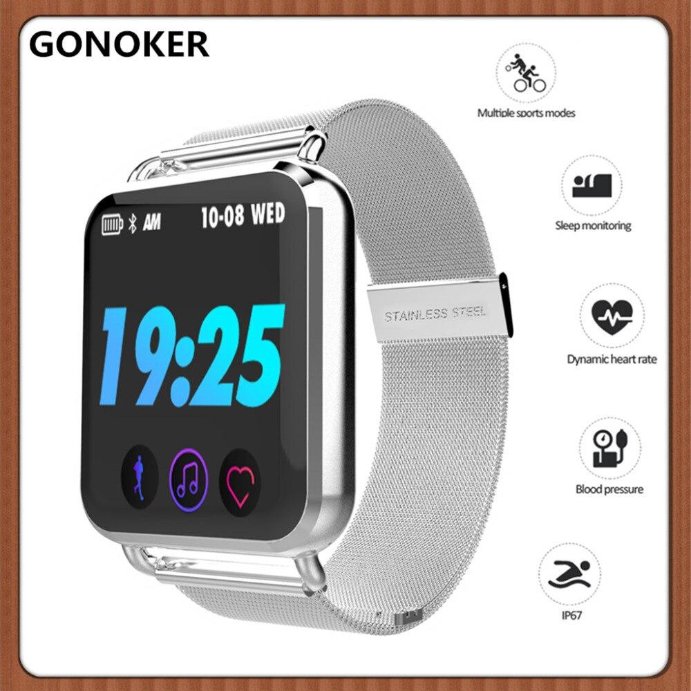 Bracelet intelligent Tracker de Fitness avec pression artérielle bande intelligente moniteur de fréquence cardiaque couleur écran tactile montre intelligente pour hommes femmes