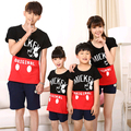Family Matching Outfit O-neck T shirts Casual Family Set Mother Daughter Father Son T shirt Clothes Family Clothing IM15