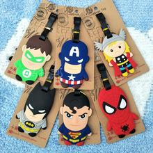 Suitcase Protective Covers Travel Products, Hero League Captain Superman Batman Spiderman Soft Gel Luggage Tag, And Package.