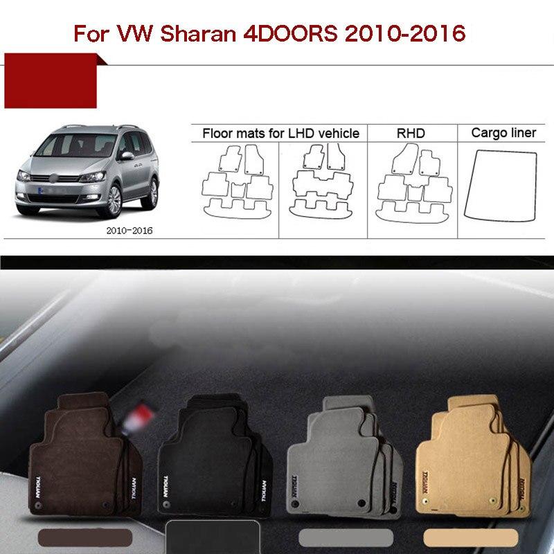 6 шт. индивидуальный заказ 1/2 Толщина Твердые Нейлон интерьер без запаха пол коврики крышка оснащена для VW Sharan 2010 16