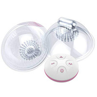 10 Frequency Rechargeable Breast Enlarge Bra Stimulator Sucking Breast Massager Enhancer Electric Nipple Enlargement Cup Sex Toy