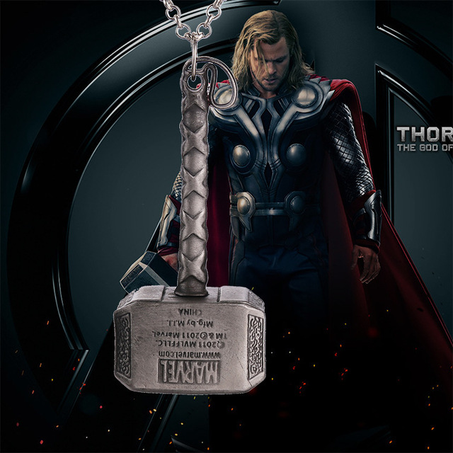 Thor Hammer Dark World Pendant & Necklace