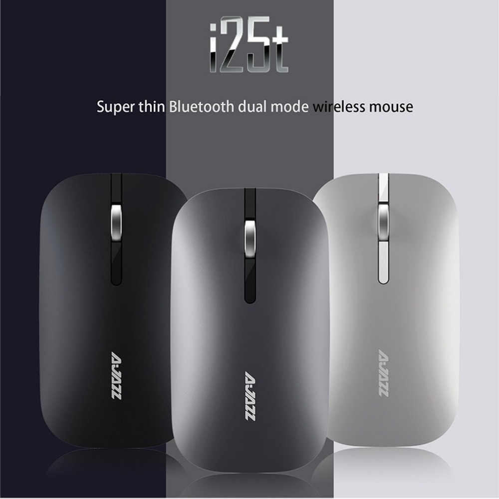Super Thin Wireless Bluetooth Mouse Dual Mode Comfortable Durable Endurance Optical Mouse for Computer PC Office Use Free Ship