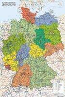 MAPPA DELLA GERMANIA BUNDESREPUBLIK DEUTSCHLAND Art Print Silk Poste Parete 12x18' 24x36' 24x48'