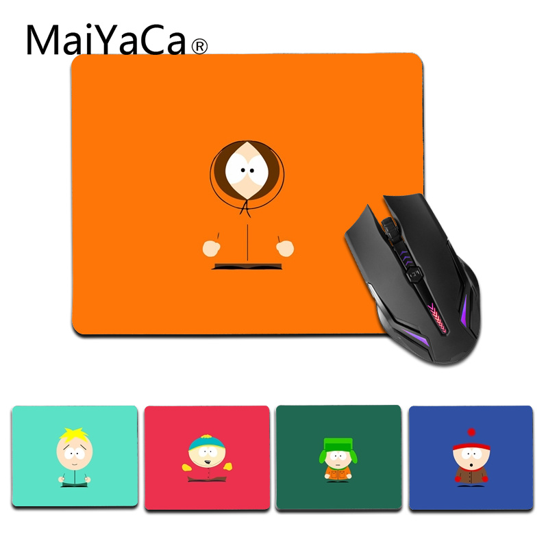 MaiYaCa Vintage Cool Colorful South Park Mice Retail Small Rubber Mousepad Size for 18x22cm and 25x29cm Small Mousemat