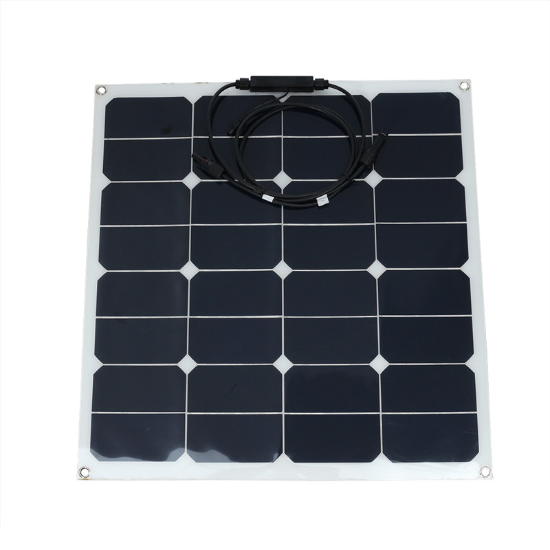 цена на Flexible Solar Panel 50W 12V Sunpower Battery Charger MC4 For Car RV Marine Boat Camping Cabin