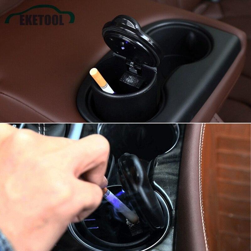 Practical New Design Car Led Ashtray Cigarette Smoke Cup Holder Mini Size Auto Car Interior Ash