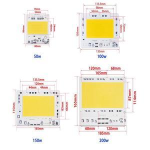 Image 4 - 5 ピース/ロットled cobチップAC110V/220v入力スマートic 50 ワット 100 ワット 150 ワット 200 ワットdiy投光器高抗サージ電圧