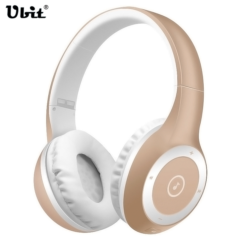 Ubit T8 Sports Folding Wireless Bluetooth Headphone Subwoofer Headset Supports TF Card, Wireless Bluetooth Headband Headset