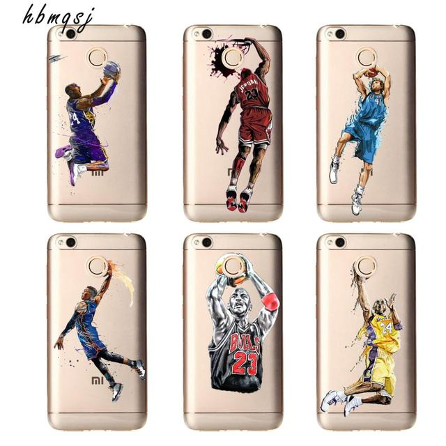 official photos d593f 238d7 US $0.7 36% OFF|Cool basketball nba player Jordan Kobe James dunk action  for xiaomi redmi 4x case silicone soft tpu transparent phone back cover-in  ...
