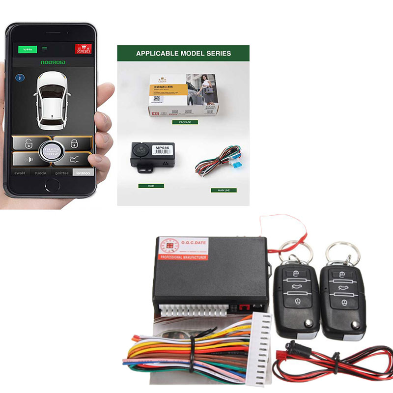 Auto Keyless Entry Central Locking Remote Automatic Trunk Opening Smart Key Start Stop Smartphone Passive Car Alarm System