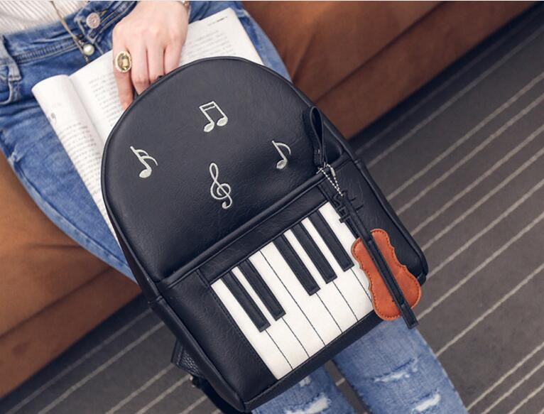 1 piece Shoulder bag female piano notes printing PU backpack women fashion college wind  shoulder bag female tide1 piece Shoulder bag female piano notes printing PU backpack women fashion college wind  shoulder bag female tide