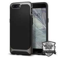 Original Spigen Neo Hybrid Case For OnePlus 5 Gunmetal K04CS21515 Case With Flexible Inner Protection And