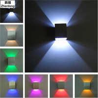 3 w iluminación de arriba/abajo 220 v 110 v lámparas de pared Led lámpara de pared de aluminio blanco/blanco cálido focos Led para fiesta/KTV/Bar/hogar