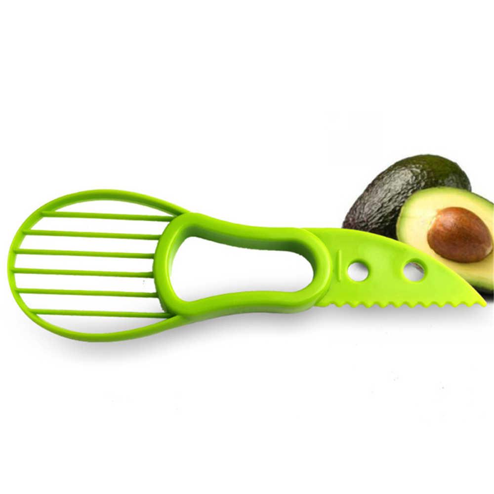 Cortadora multifuncional de aguacate Shea Corer mantequilla pelador de fruta cuchillo separador de pulpa de plástico cuchillo de cocina herramientas vegetales