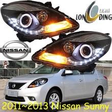 Sunny headlight,2010~2013,(LHD,If RHD need add 200USD),Free ship! Sunny fog light,2ps/se+2pcs Aozoom Ballast, Sunny