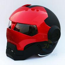2016 Новый Матовый Черный и Красный Masei женщин Людей IRONMAN Железный человек шлем мотоцикла половина шлем открытый шлем ABS шлем motocros