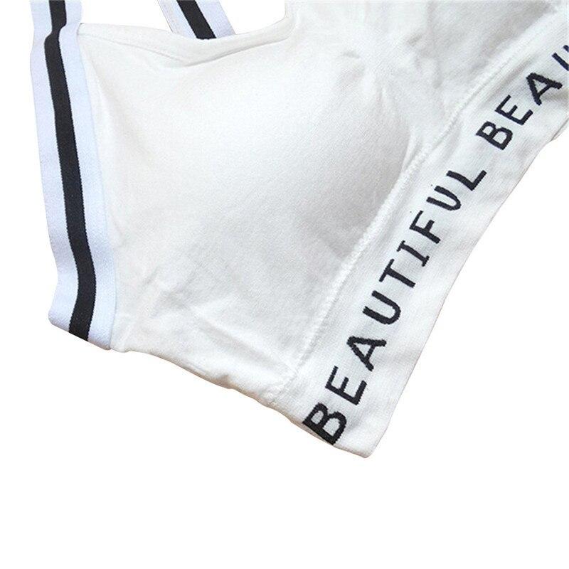Negro y blanco patrón de rayas espalda Cruz vendaje Sujetador ...