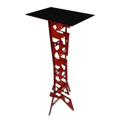 Tableau pliant magique en alliage d'aluminium-couleur rouge tours de magie magicien meilleur accessoire d'illusions de scène de Table facile à transporter - 3