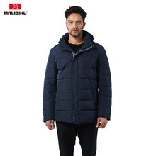 MALIDINU 2019 Man Jacket Winter Warm Cotton Padded Coat Parka Brand Padding Hooded Thick Quilted Men