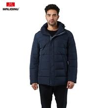 MALIDINU 2019 Man Jacket Winter Warm Cotton Padded Coat Parka Brand Padding Jacket Hooded Thick Winter Coat Quilted Jacket Men цена