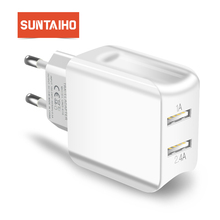 Suntaiho Universal Dual USB Port Charger Travel Wall Charger