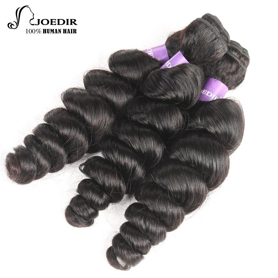 Joedir Hair Indian Human Hair Bundles Loose Wave 3 Bundles Hair Extension Non Remy Human Hair Weave Free Shipping