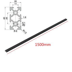 1PCS 20x20 450 mm Standard Europeo Lineare Profilo In Alluminio Ferroviario estrusione