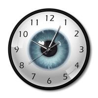 The Eye Eyeball Pupil Core Sight View Metal Frame Modern Wall Clock All Seeing Human Body Anatomy Modern Novelty Wall Watch Gift