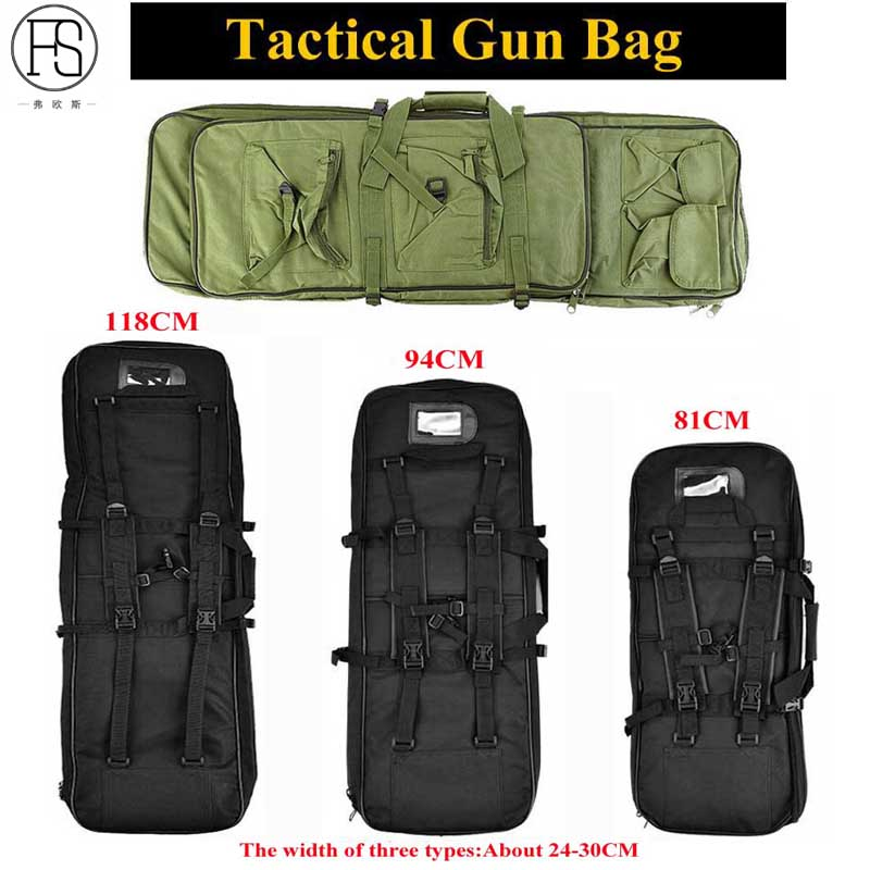 Good Tactical Equipment 81/94/118CM Military Backpack Airsoft Gun Bag Square Hunting Carry Bag Protection Case Rifle Backpack gun protector case backpack tactical handgun pistol carry bag wargame sports military hunting camping bag pouch backpack