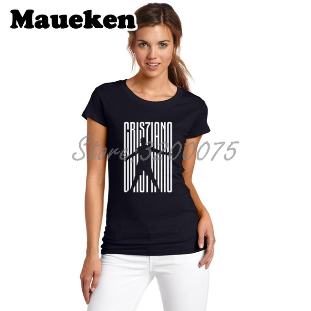 best sneakers e6f41 b28ff US $15.88 |Women Cristiano Ronaldo 7 CR7 JUVE Welcome To T Shirt Lady  Clothes tshirt for fans o neck tee T Shirt Girl W18071005-in T-Shirts from  ...