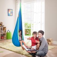 Children Hammock Inflatable Cushion Garden Swing Chair Indoor Outdoor Hanging Seat Child Swing Seat Patio Hammock Furniture Blue