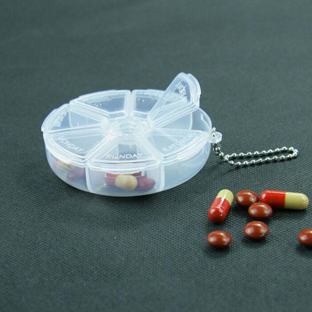 1 PCs Square Folding Vitamin Medicine Drug Pillbox Travel Pill Box Makeup Storage Case Container Pill Cases & Splitters 5
