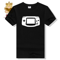 Retro Game Console Concept T Shirt Game Fans Tee Handheld Console Game Boy Advance Printing T