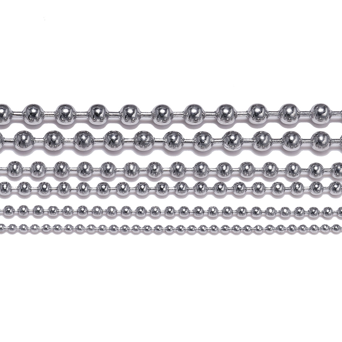 32 Feet Stainless Steel Ball Chains with 50 Pcs Matching Connectors Bead Chain Necklace 2.4mm Diameter Beaded Roller Chain Silver Fan Pull Chain Spool Extension DIY Jewelry Making Accessories