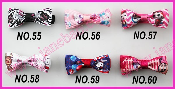 free shipping 30pcs new 2'' cartton basic hair bows for  girl hair clips bitty hair bows for small bows