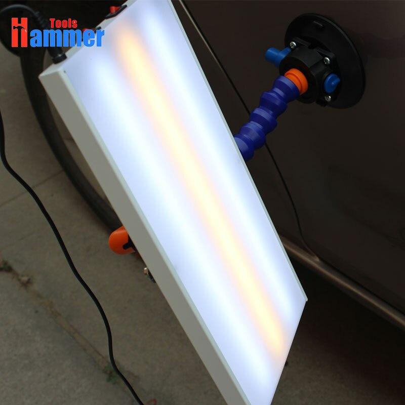 Lâmpada LED Refletor Board Ferramentas de Reparação Dent PDR REI LEVOU Placa De Reflexão Da Luz com o Suporte Ajustável Conjunto de Ferramentas de Mão