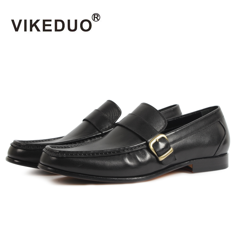 VIKEDUO Luxury Brand Fashion New Men Shoes With Genuine Soles Leather Comfortable Flat Footwear Shoe For Personality Man Male new 2016 medium b m massage top fashion brand man footwear men s shoes for men daily casual spring man s free shipping