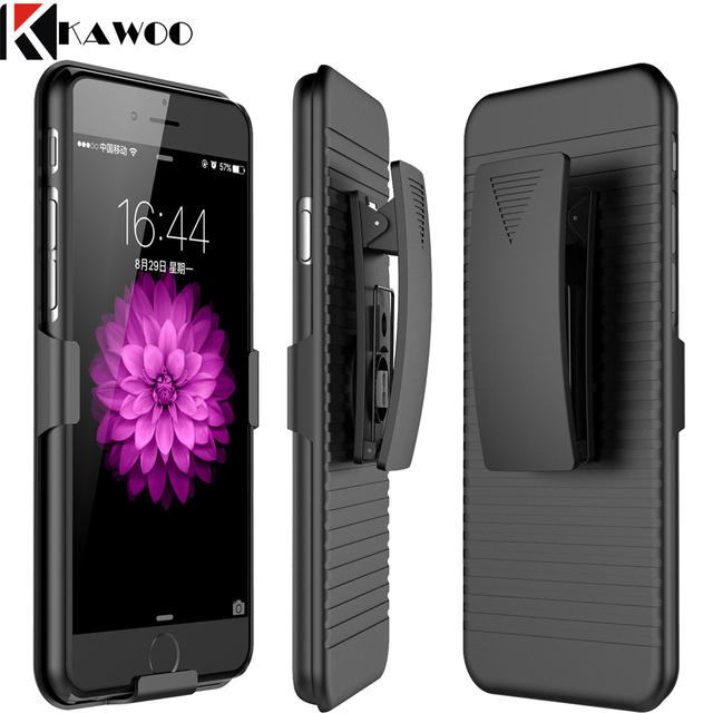 new styles bcaff 394c4 Aliexpress.com : Buy Armor Carrying Case With Swivel Belt Clip Kickstand  Cover for iPhone 7 8 X SE Slim Hard Shell Layer Holster Capa For iPhone 6  6S ...