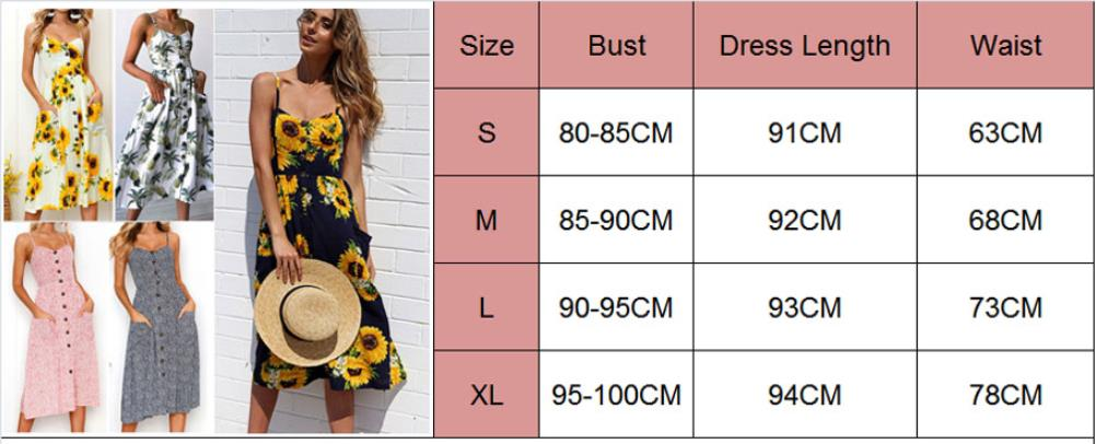 Women Floral Printed Dress 2019 Summer Casual Sleeveless Holiday Beach Maxi Evening Party Dress Femme Vestidos in Dresses from Women 39 s Clothing