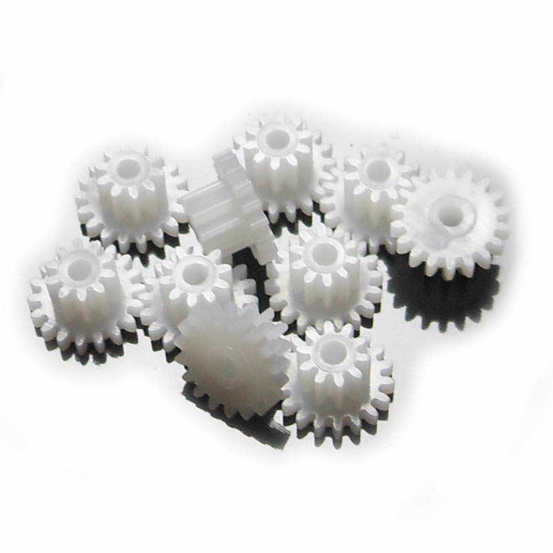 10 Stks/partij POM Plastic 0.5 M 18102A Dubbeldeks Gear Wheel Plastic Tandwielen 18 Tanden + 10 Tanden Gears