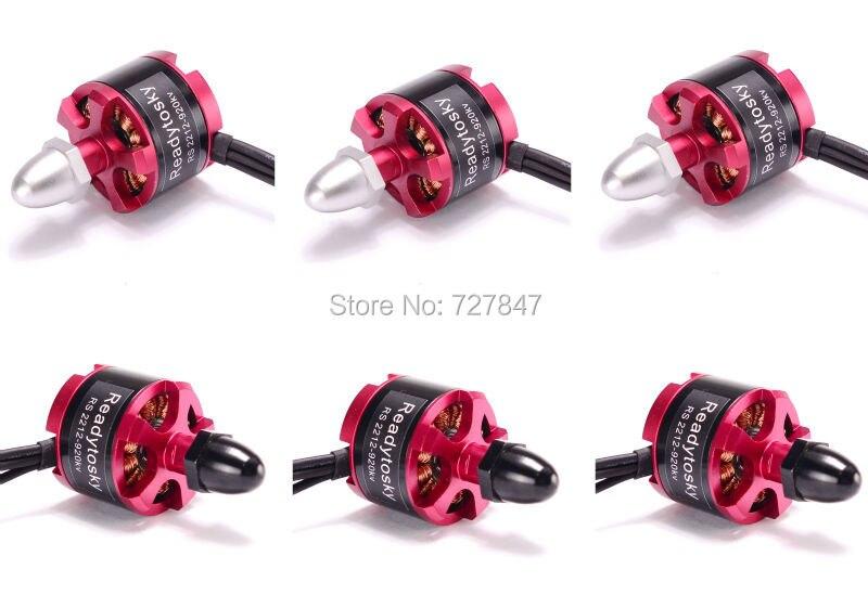6 pcs 2212 Do Motor 920KV Brushless 3CW 3CCW para S500 500 550 Multirotor Quadcopter X525 F450 F330