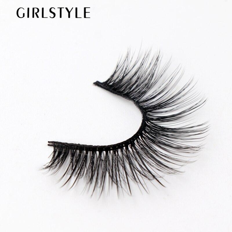GIRLSTYLE Eye Makeup Tool Eye Lashes Extensions 3 Pairs/sets Natural Black Long False Eyelashes Sparse Cross Eyelashes Fake New
