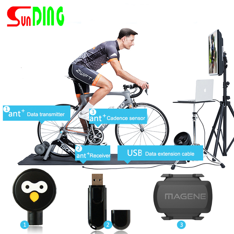 Zwift ANT+ Dongle USB Sticker ANT+ Bluetooth Speed Cadence Sensor Bike Indoor Trainer Compatible Garmin Bryton Bicycle Computer