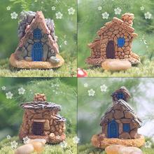 4 шт Миниатюрный маленький каменный дом, сказочные Садовые принадлежности украшения для террариума