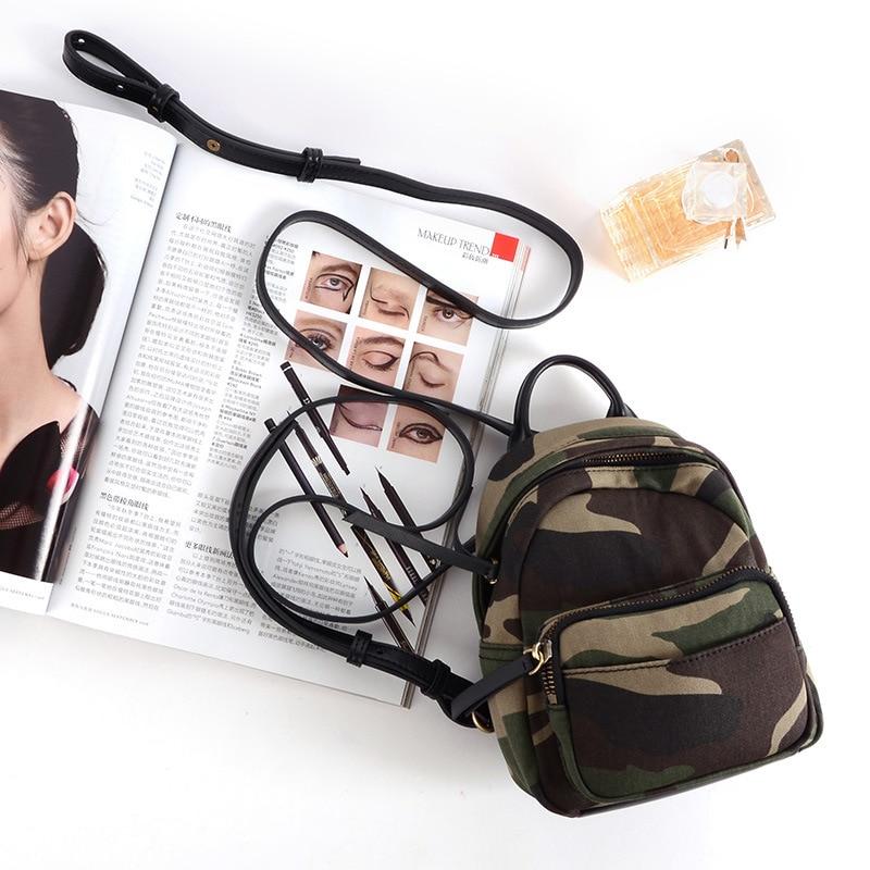 2018 NEW Fashion Multifunction Nylon Backpack Shoulder Bag Casual Women Backpack Teenager Girls Mini Backpack Camouflage fn01 multifunction canvas shoulder bag handbag backpack for women khaki