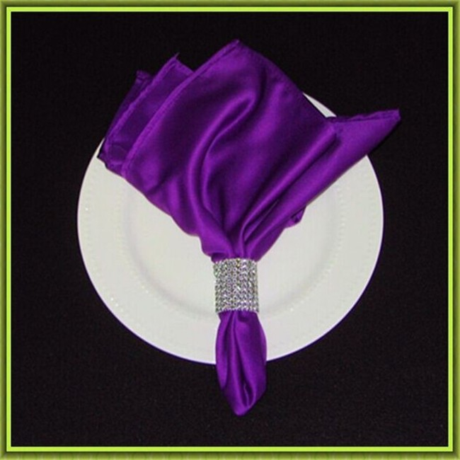 Marious Brand 100pcs Satin wedding table napkin banquet cheap for sale free shipping