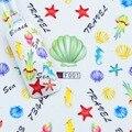 3 hojas Nuevo Diseño belleza Nail Art Stickers acuario Elementos Ráfaga Océano Shell Calcomanías accesorios herramientas de la manicura de Uñas 2017