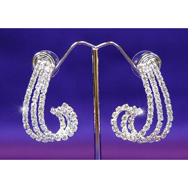 Bridal Wedding Party jakości królowa Swan kryształowy naszyjnik zestaw kolczyków biżuteria druhna CS1036
