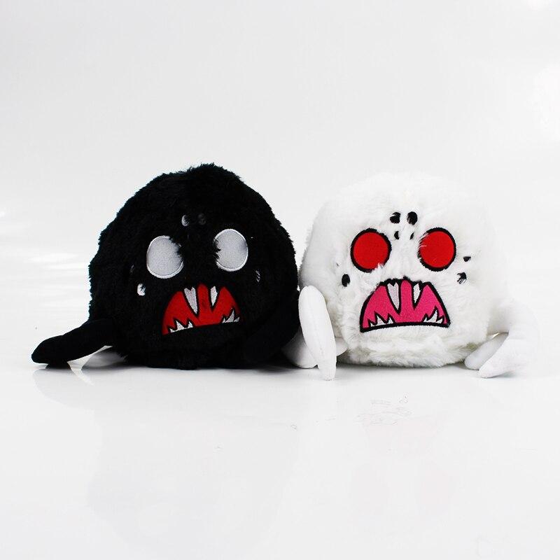 2 estilos 16cm brinquedo de pelúcia branco preto aranha sombra aranha brinquedos de boneca animal recheado